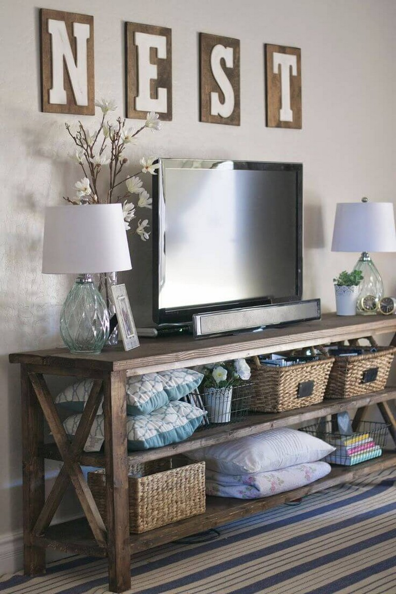 Rustic Decor Style Enlighting Your Mid Century Living Room Ambience