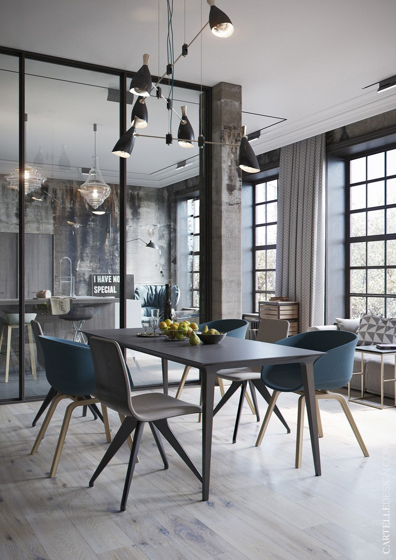 Get The Look From This Industrial Style Living Area By Cartelle Design