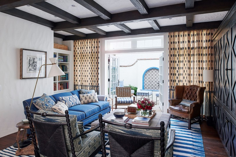 Mark D. Sikes' Spanish Colonial House Project Stars Mid-Century Lighting!