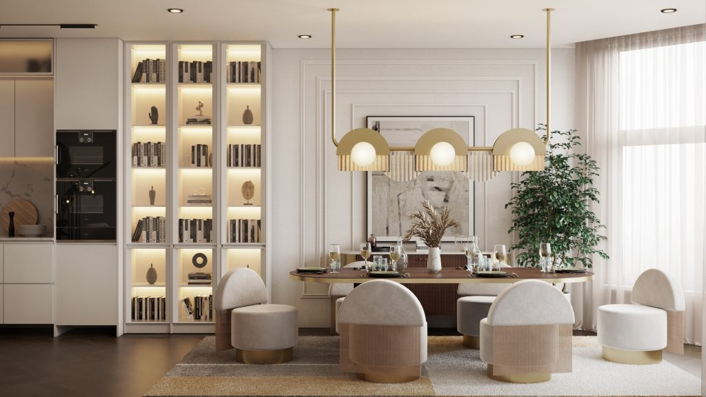 """This All-White Residential Project With """"Hollywood Glamour"""" Collection is Seriously Soothing!"""