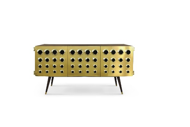 Brutalist Architecture cheek to cheek with Modern Designs delightfull monocles sideboard