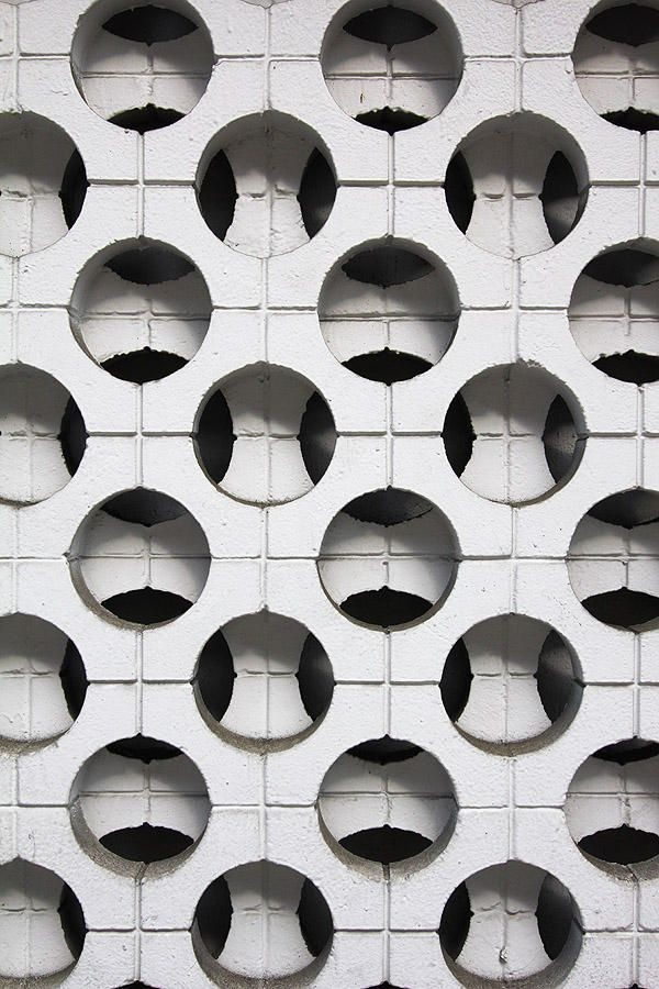 BrutalistArchitecture cheek to cheek with Modern Designs screen wall pattern, M Street, Washington, D.C. monocles