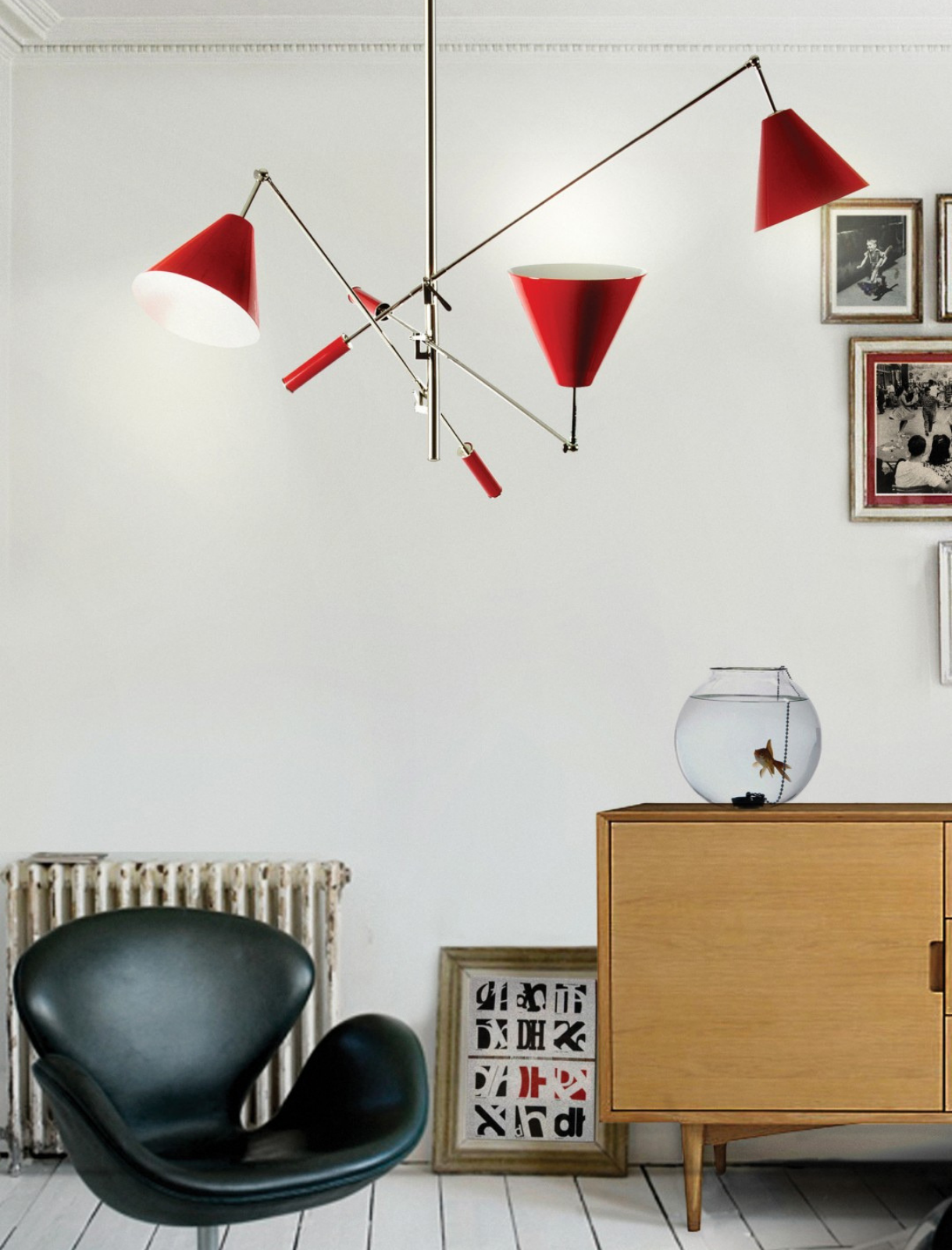 Modern Home Decor Secrets With White and Red Hues