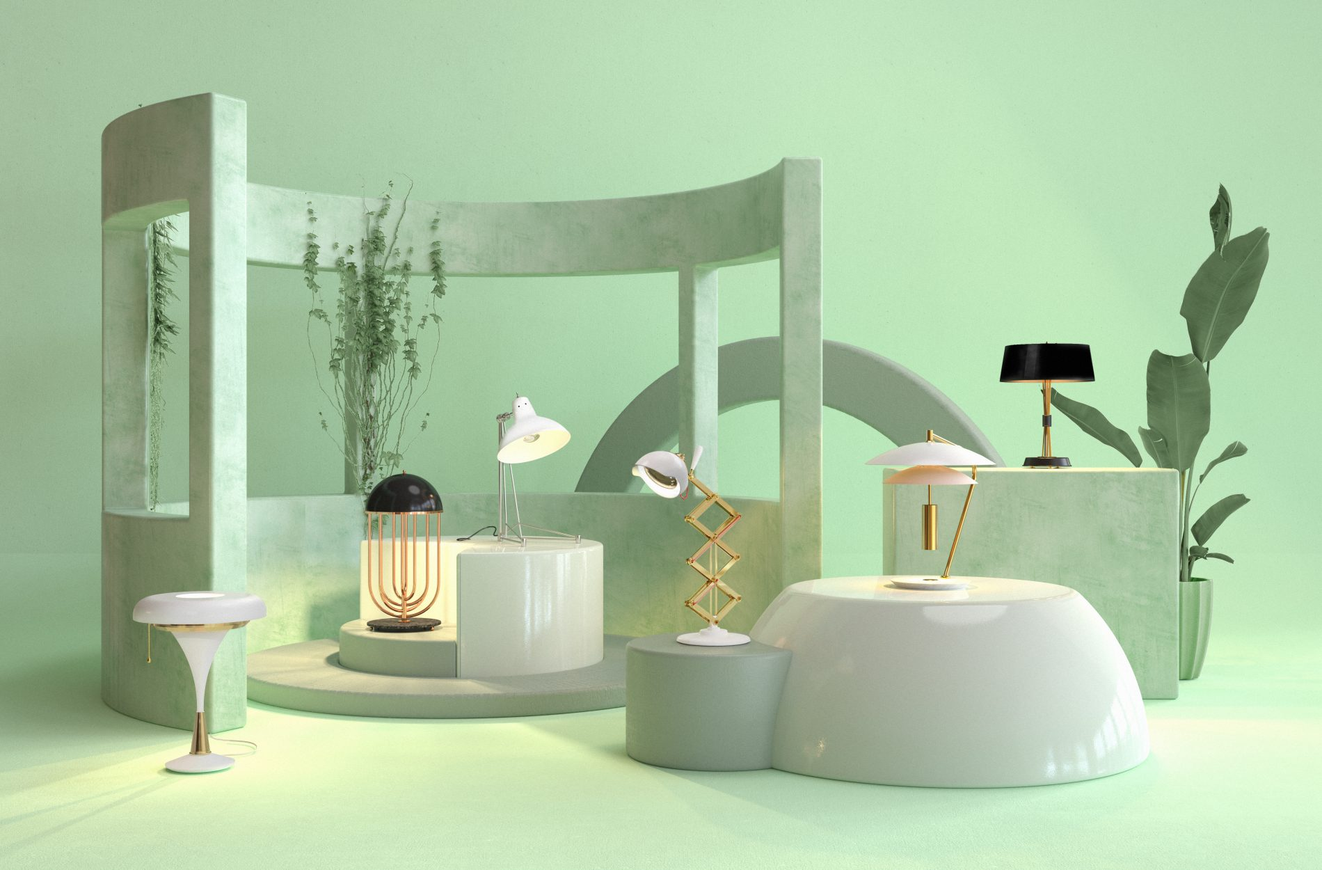Table Lamps Set By DelightFULL