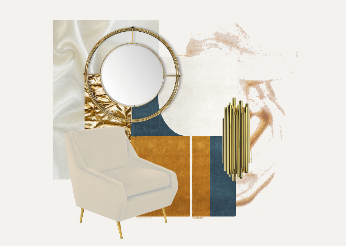 Gold & Silky Accents For Your Interior Design